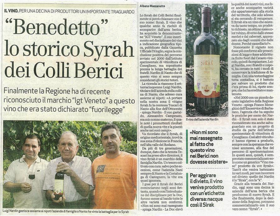 """""""Benedetto"""" lo storico Syrah dei Colli Berici"""
